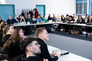 "Pitching-Event im Modul ""Agile Project Management"" im Studiengang BWL Digitale Wirtschaft"
